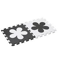 Interlocking Foam Mats EVA Foam Floor Mats (10 Tiles) White Flower image 2