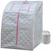 Portable Steamer Sauna Personal Weight Loss Relaxation Spa Home Detox Pink - $89.05