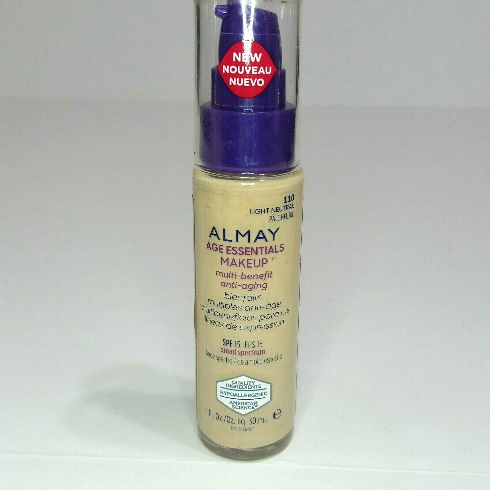 Primary image for Almay Age Essentials Makeup Multi-benefit Anti-aging #110 Light Neutral SPF15