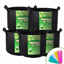Gallon Grow Bags Heavy Duty Thickened Nonwoven Fabric Pots with Handles - $9.89+