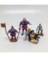4 Disney Pocahontas PVC Figures/ Cake Toppers -John Smith, Ratcliffe, Po... - $12.19