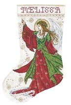 Tobin DW5990 14 Count Angel of Joy Stocking Counted Cross Stitch Kit, 17... - $16.59