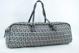 FENDI Zucchino Canvas Hand Bag Navy Auth 7974 - $240.00