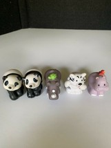 Lot of 5 Fisher Price Little People Zoo Jungle Tiger Panda Rhino Hippo - $9.89