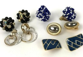 Vtg Clip Earring Lot Mod Sarah Cov Japan Cluster 5 pairs - $14.85