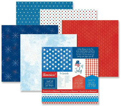 """Creative Memories 12x12 """"Festive Fourth"""" Paper Pack, 12pk Double-sided -... - $11.20"""