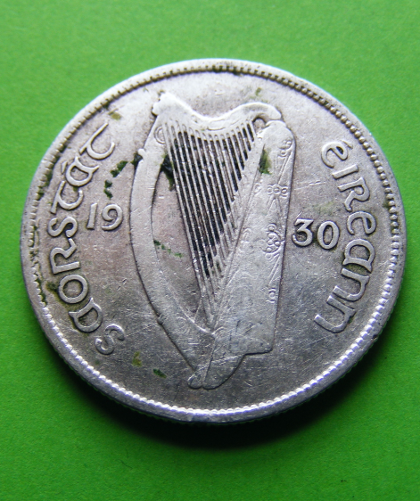 Irish 1968 Three Pence Coin Ireland Rabbit Harp Eire Superb High Grade Authentic