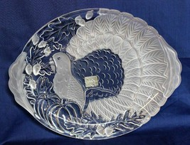 "NEW Gorham 1831 Fall Traditions, Crystal Germany Turkey Platter 17"" NEW ... - $79.19"
