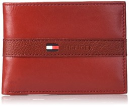 Tommy Hilfiger Men's Ranger Leather Passcase Wallet with Removable Card Holder,R