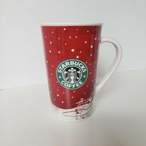 """Starbucks Holiday Christmas Winter Ice Skating Tall Mug 2007 16 oz 5.75 x 3.5"""" - $14.84"""
