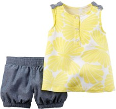 Carter's Baby Girls' 2-Piece Top & Shorts Set 18 Months - $16.99