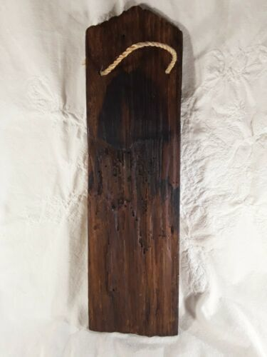 Picture of Woman On Recycled Wood Wall Hanging