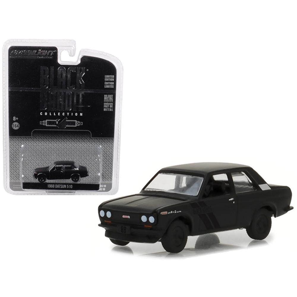 1968 Datsun 510 Black Bandit Series 19 1/64 Diecast Model Car by Greenlight 2795