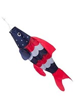 40-inch Patriotic Fish Windsock 3.3 feet -- Stars and Stripes -- Red, Wh... - $13.59