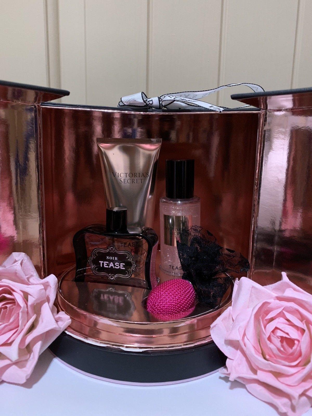 Victoria's Secret NOIR Tease Perfume 3 PC Gift Set 1.7 oz EDP B-Lotion, Mist SPR