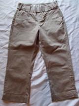 Womens Lee Style Up Capri Pants ~ Sz 4 ~ Beige ~ Cotton/Spandex ~ Casual - $14.84