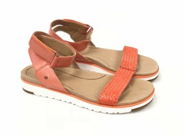 Ugg Australia Laddie Women's Ankle Strap Fire Opal Orange Sandal 1015669 Shoes image 2