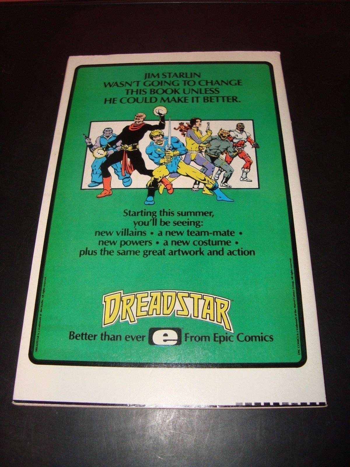 X-Men 186 Marvel Comic Book FN 7.0 Condition 1984 X-Men / Lifedeath