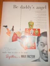 Vintage Max Factor Signature Magazine Advertisement 1950's - $12.99