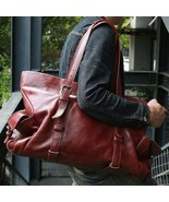 On Sale, Tote Bag, Full Grain Leather Shoulder Bag, Handmade Men Bag, La... - $315.00