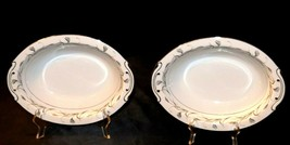 Harmony House Fine China Made in Japan Platinum Garland AA20-2237H  2- Oval Serv