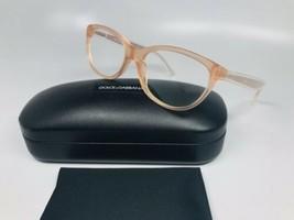 New Dolce & Gabbana DG3141 2587 Transparent Peach Eyeglasses 53mm with Case - $94.02