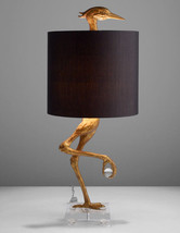 "Whimsical Unique Ibis Table Lamp Heron Crane Bird Motif Lamp 14.5'' x 35""H - $490.05"
