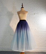 Women Frozen Blue Tulle Skirt Outfit Multi-Color Plus Size Wedding Party Skirt image 1