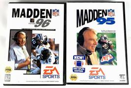 Sega Genesis 2 Game Lot Football Bundle Madden 95 Madden 96 - $5.24