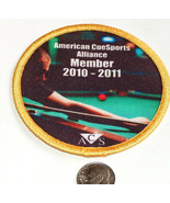 NEW 2010 2011 ACS 8 BALL POOL BILLIARD SEWN CUE SPORT PLAYER LEAGUE MEMB... - $12.17