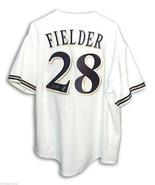 Prince Fielder Autographed Jersey Majestic Milwaukee Brewers COA - $178.00