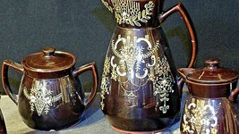 Tea pot, Sugar and Creamer Set AB 120 Vintage  image 2