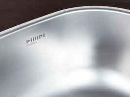 Hanssem Stainless Steel Basin Dishpan Washing Bowl Sink Basket Kitchen Multipurp image 2