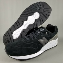 New Balance 999 Suede Running Shoes SZ 10 Mens Athletic Sneaker Black Wh... - $79.46