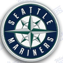 SEATTLE MARINERS   iron on embroidered embroidery patch baseball  logo mlb - $9.50