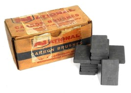 BOX OF 15 NEW NATIONAL 3061 CARBON BRUSHES image 1