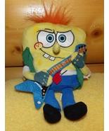"""SpongeBob SquarePants Jakks Nickelodeon Plush 8"""" Rock Star with Guitar - $7.49"""