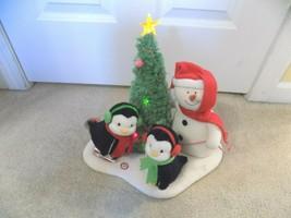 Hallmark Jingle Pals Animated Plush Snowman Penguin Rockin Around Christ... - $29.67