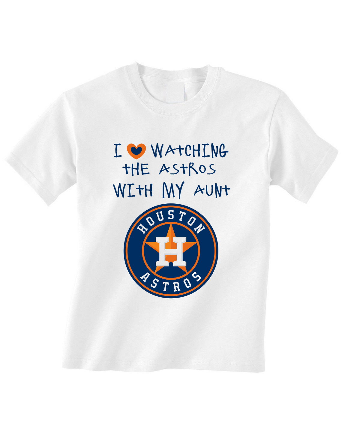 Primary image for Houston Astros Toddler Tshirt Shirt Love Watching With My Aunt