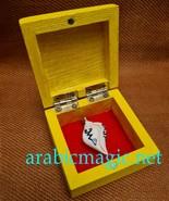 Carved megalodon talisman tooth/ Arabic talisman connected with djinn Marid - $370.00