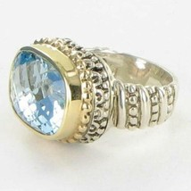 Alwand Vahan 14K Yellow Gold Beaded Sterling Blue Topaz Ring Sz 7 New $2195 - $1,188.25