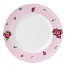 4 ROYAL ALBERT NEW COUNTRY ROSES PINK MODERN DINNER PLATE NEW IN THE BOX - $84.14