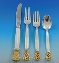 Celtic Weave Gold by Towle Sterling Silver Flatware Set for 12 Service 52 pcs  - $3,750.00