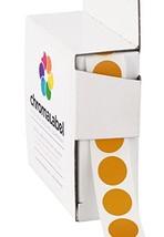 ChromaLabel 1/2 Inch Round Color Coding Labels   1,000/Box Copper - $14.76