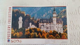 "NEW SURE-LOX 500 PIECE GERMANY NEUSCHWANSTEIN CASTLE PUZZLE 18X11"", SOUV... - $4.94"