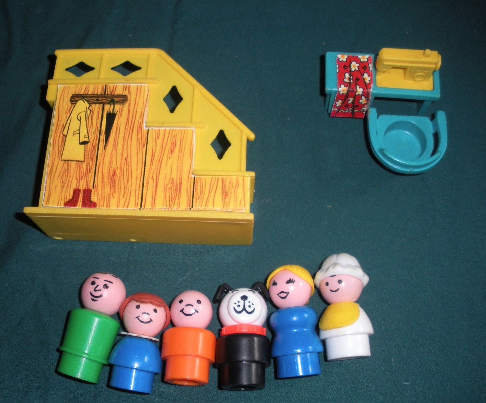 Vtg. Fisher Price Little People #952 Yellow House Comp.+ BONUS/ EXC++-NR MT  (P) image 3