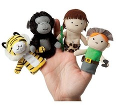Manhattan Toy Storytime Finger Puppets A Jungle Story Plush - $12.86