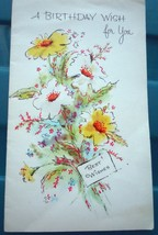 Vintage A Birthday Wish For You Greeting Card Unused - $1.99