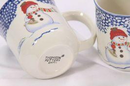 Thomson Pottery Snowman Xmas Mugs Lot of 9 image 7