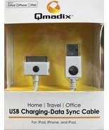 Qmadix - QM-USBAP-SYNC-WH - Cell Phone 4/4s Tablet Data Sync Cable - White - $7.87